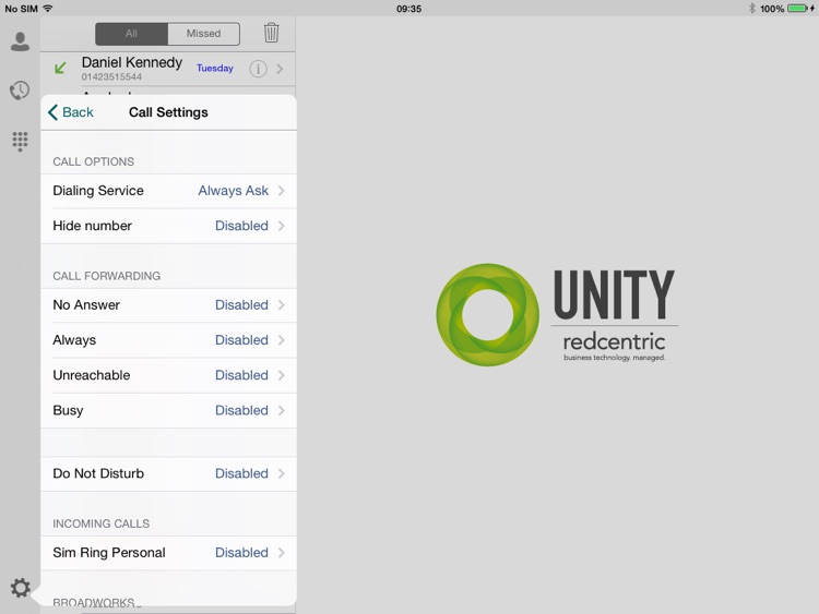 Unity Tablet