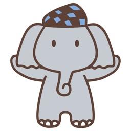 Cute Elephant Animated Emoji Stickers
