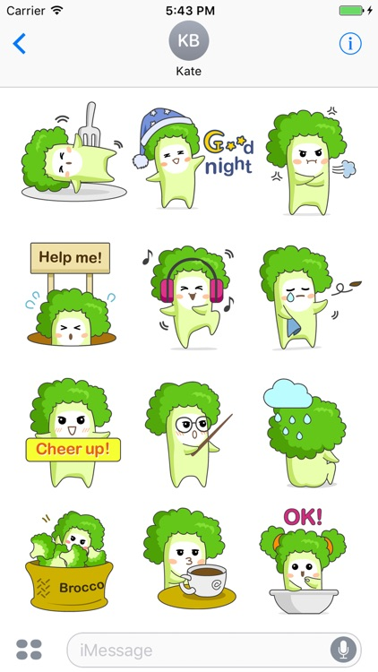 Broccoli Boo Stickers Pack for iMessage