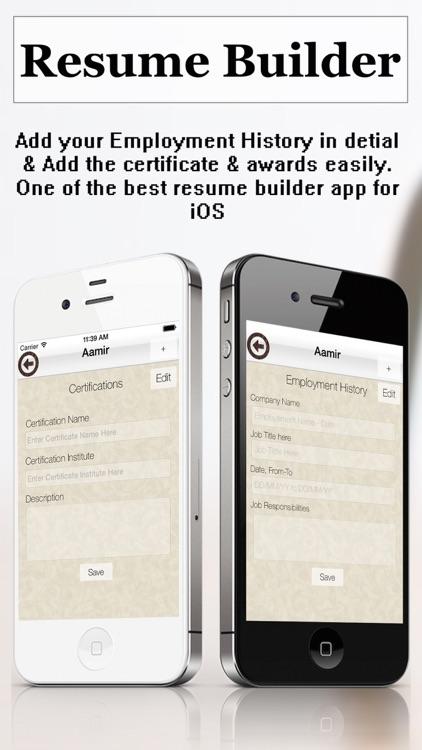 Resume Builder Plus - CV Maker and Resume Designer