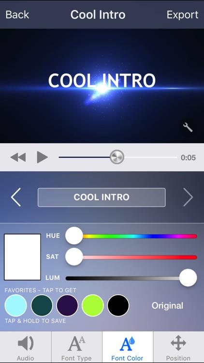 Intro Designer Lite - Create Intros for iMovie screenshot-4