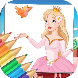 Princess Coloring Book For Kids And Girl