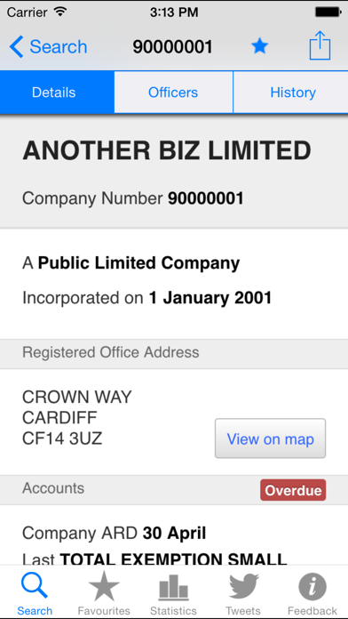 Companies House screenshot two