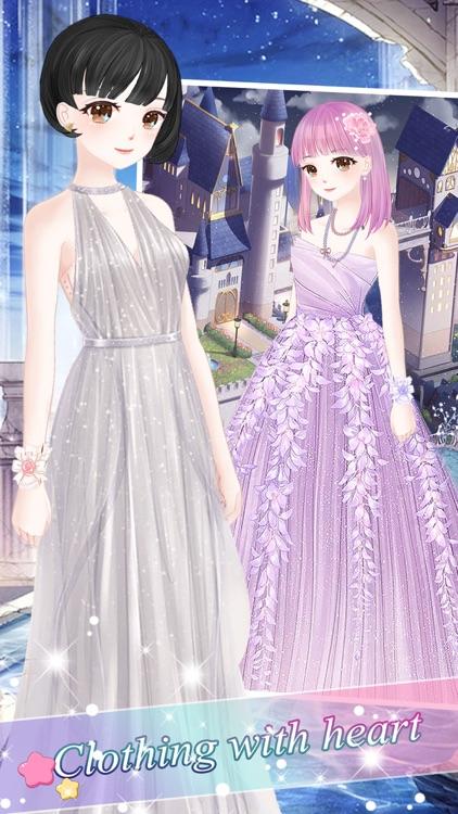 Snow princess fashion dress - Costume Dress Up