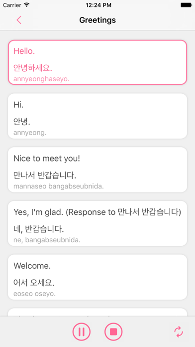 Korean Pocket-Learn to Speak Korean in Pocket screenshot two
