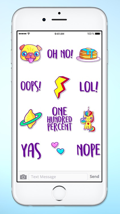 Super Happy Fun Neon Retro Sticker Pack screenshot-4