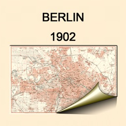 Berlin 1902. Historical map.