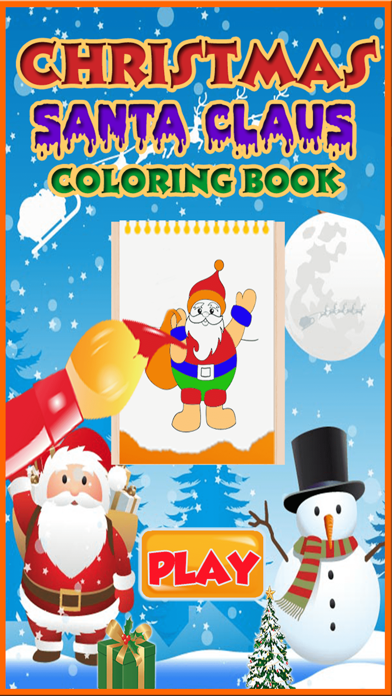 Santa Claus coloring pages screenshot one
