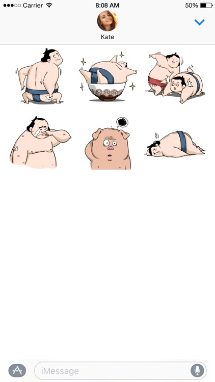 Ringo the Sumo Wrestler stickers screenshot-4
