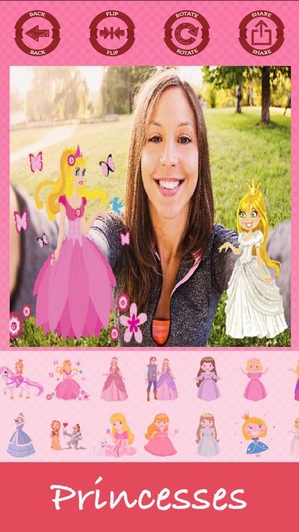 Princesses photo editor sticker maker