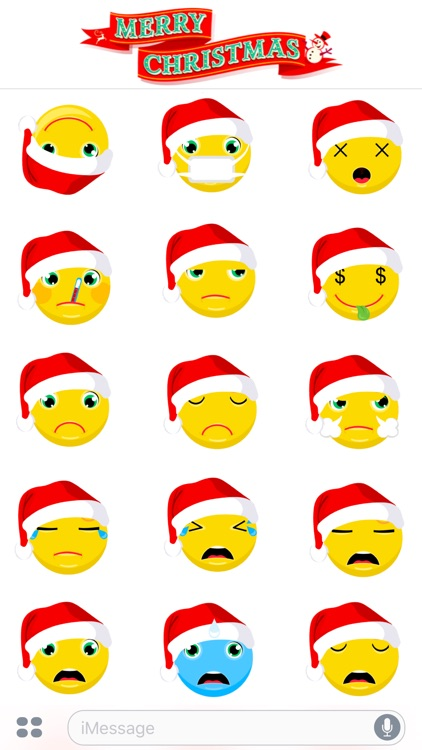 Merry Christmas & Happy New Year 2017 - Cute Emoji screenshot-3