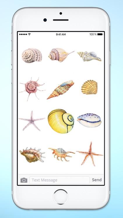 Beach Lover Sea Shells Sticker Pack screenshot-3