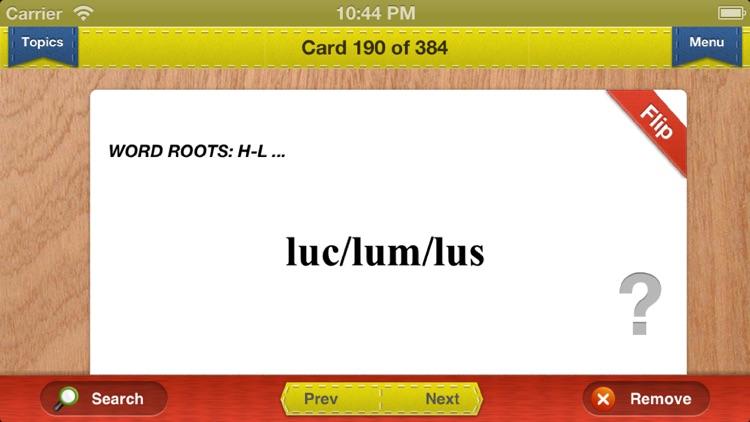 GRE Prep Verbal Flashcards Vocabulary Exambusters screenshot-3