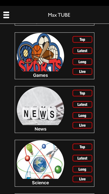Max Tube LIVE - Sport, Games & Entertainment