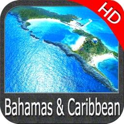 Bahamas and Caribbean HD GPS Map Navigator