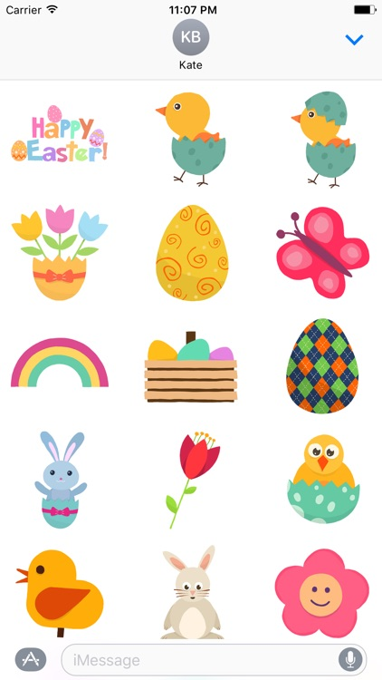 A Very Happy Easter - Cute Easter Stickers