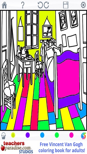 Van Gogh Paintings - Coloring Book for Adults on the App Store