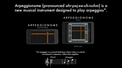 Screenshot #2 pour Arpeggionome for iPhone | matrix arpeggiator