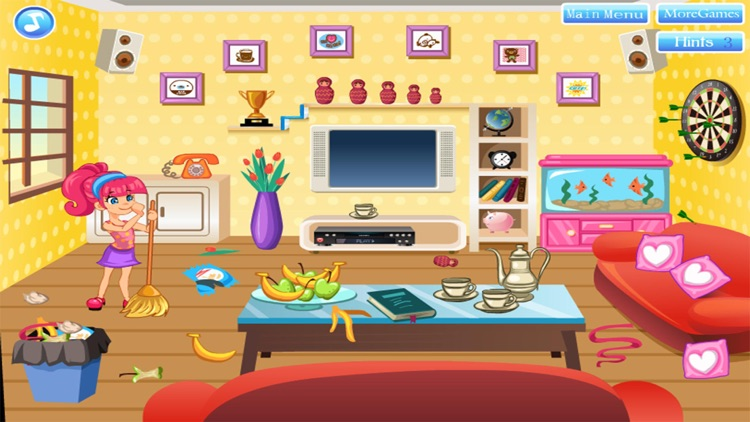 cleaning house decorating games girl for free