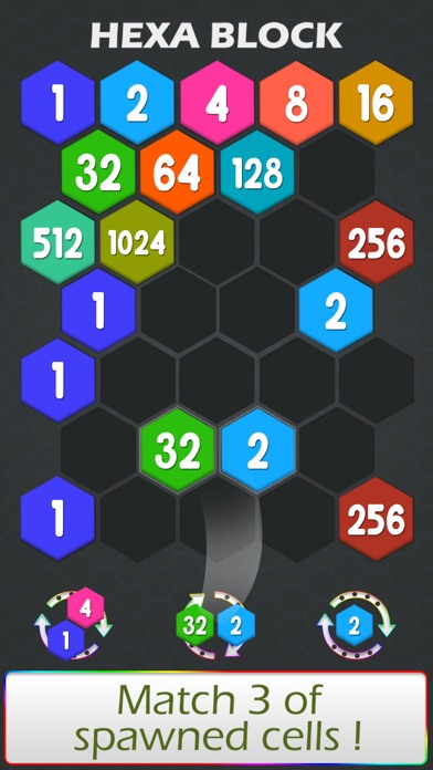 Connect Hexa Puzzle - Matching Numbers screenshot three