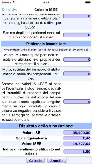 Simulazione calcolo isee su app store for Isee ordinario