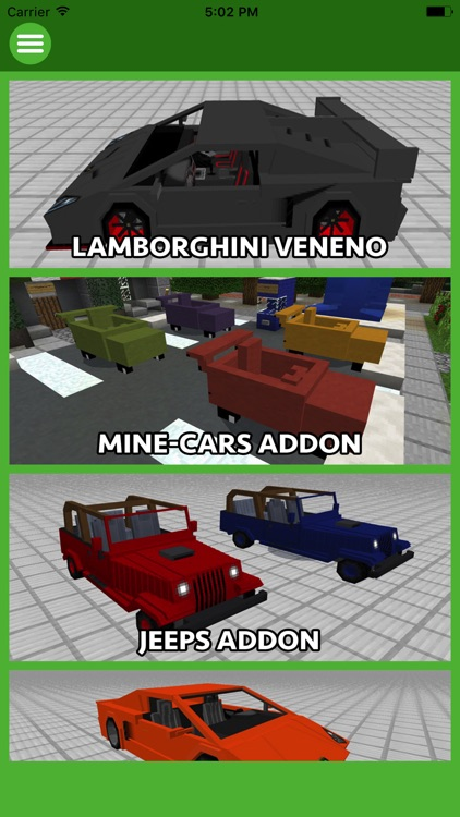 CARS ADDONS FOR MINECRAFT POCKET EDITION (PE)