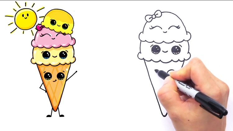 How to Draw Cute Foods by AnGia Le