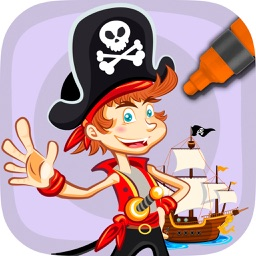 Paint and Color Pirates –coloring book