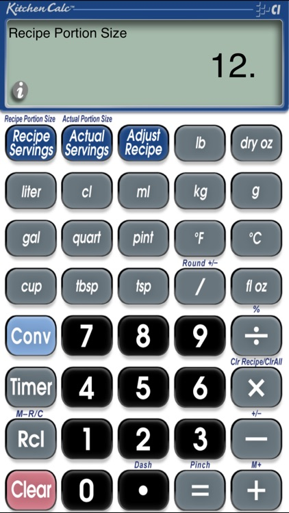 Calculated industries kitchen calc recipe calculator with digital.