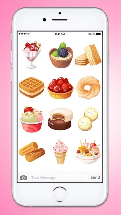 Sweet Desserts A Yummy Sticker Pack screenshot-4