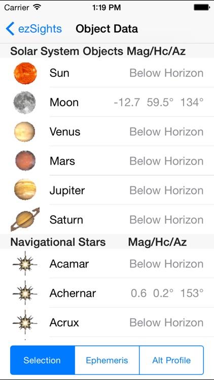 ezSights Celestial Navigation