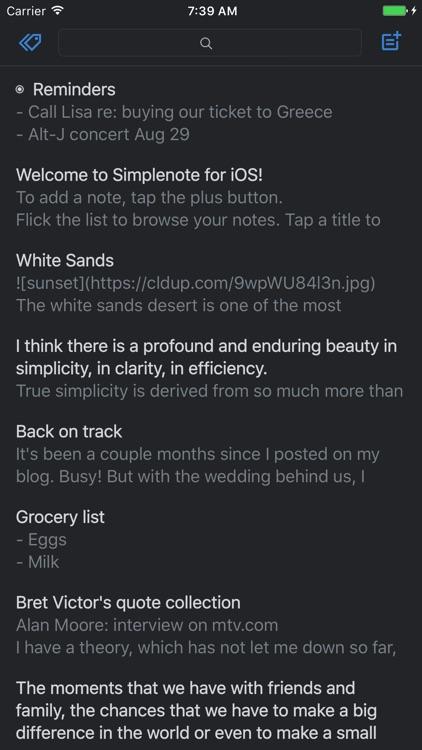 Simplenote screenshot-4