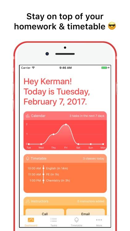 The Homework App - Your School Schedule & Planner
