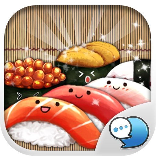 Japanese Food Stickers Emoji Keyboard By ChatStick