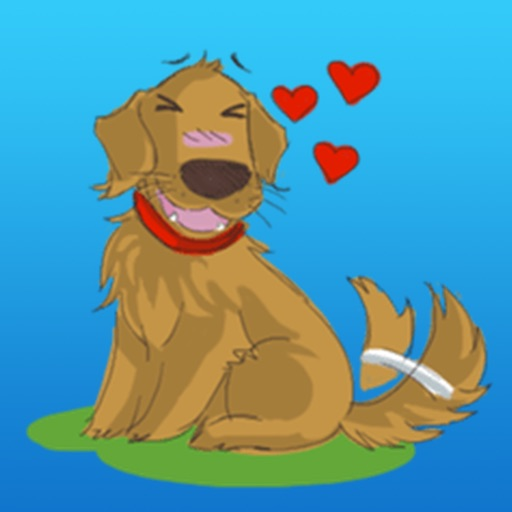 Cutie Retrievers Dog Stickers icon