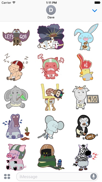 Baby Animal Super Bowl Stickers