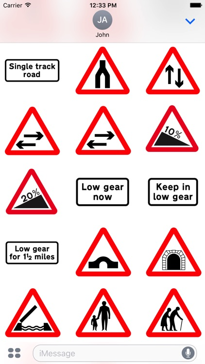 200 UK Highway & Traffic Signs Stickers