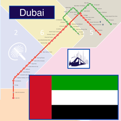 Dubai Metro - Map and route planner on the App Store