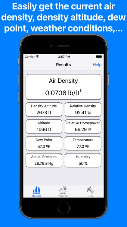 Air Density Meter & Density altitude calculator