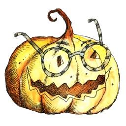 Pumpkin - Frog - Worm! Watercolor Stickers