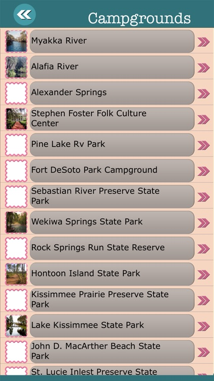Florida State Campgrounds & Hiking Trails