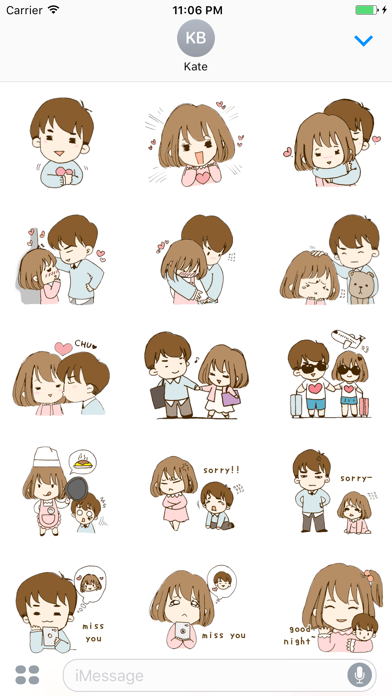 Love Story Of Rose And Jacob English Stickers screenshot one