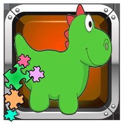 Park Dinosaur puzzle - animated game for toddlers