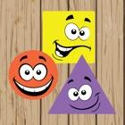 Jogo de formas geométricas básica pré escolar icon