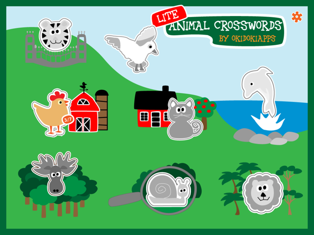 ‎Animal Crosswords Lite - Crossword for kids Screenshot
