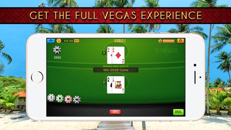 Blackjack 21 Classic Casino With Treasure Chest screenshot-3