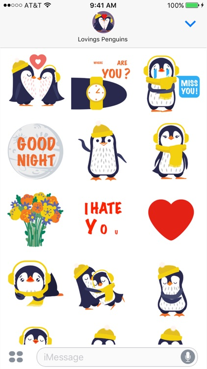 Love Penguins - Animated Pack for Valentines Day screenshot-2