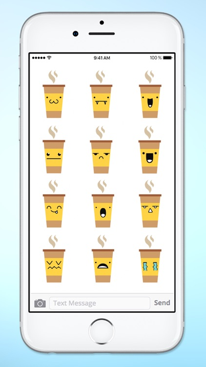 Cute Coffee Emojis Sticker Pack screenshot-3