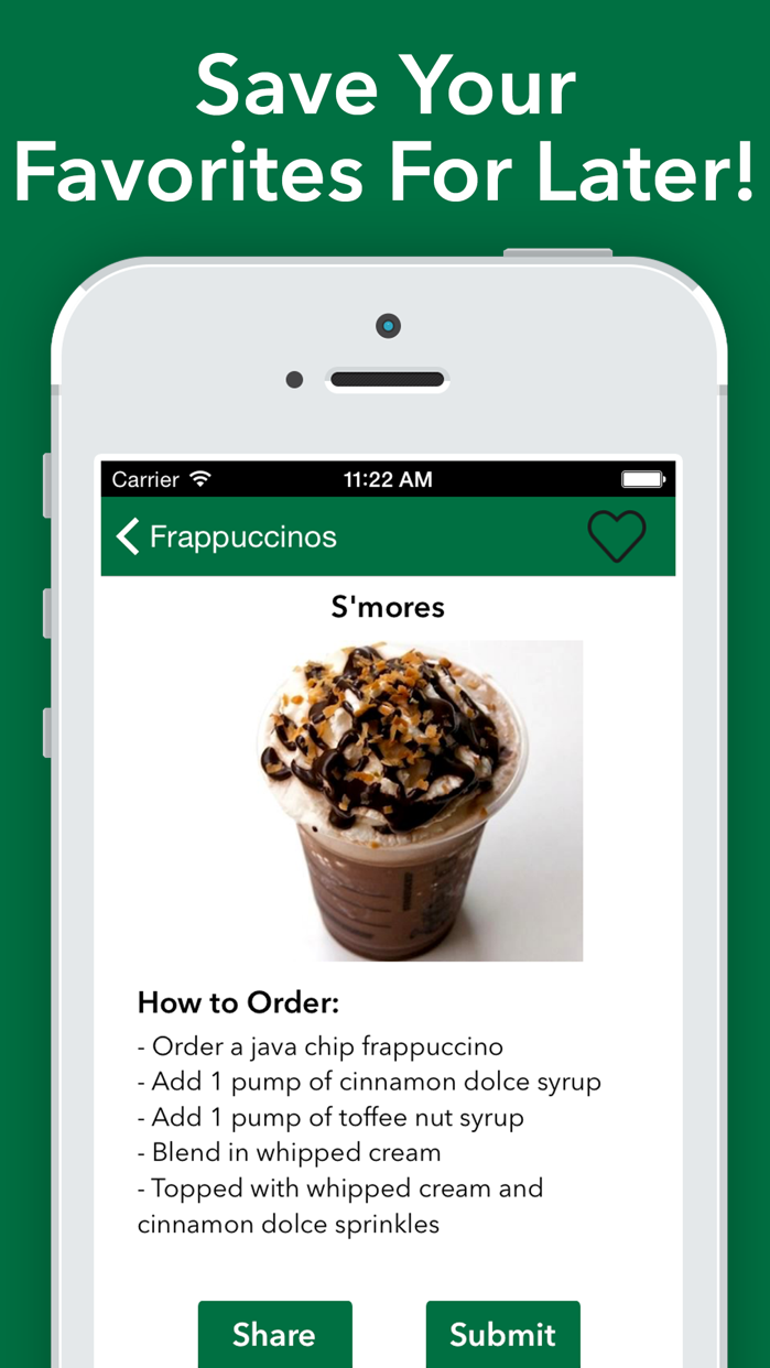 Secret Menu for Starbucks! Screenshot