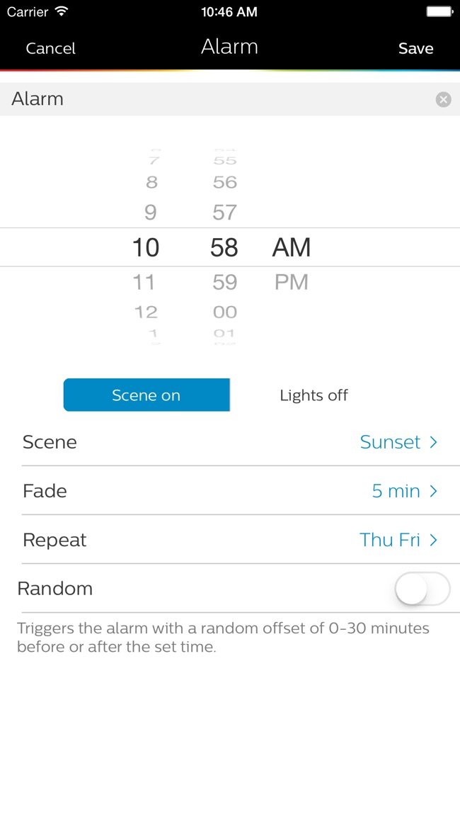 Philips Hue gen 1 Screenshot